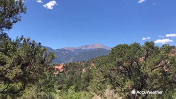 Incredible views and incredible weather at the Garden of the Gods