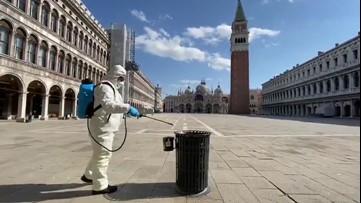 Public areas disinfected in Venice