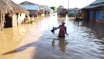 Town floods after a week of heavy rain