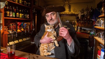 This 'Off-Grid' Pub Where Customers Serve Themselves Is Run by the Grumpiest Most Eccentric Pub Landlord and His Cat Hitler