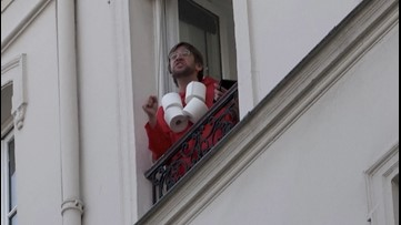 Comedian Lifts Neighbors' Spirits With This Game Show From His Paris Balcony