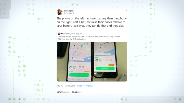 VERIFY: Uber prices and phone battery