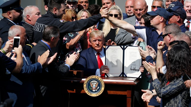 Trump 9/11 bill signing Sept 11 victims fund compensation