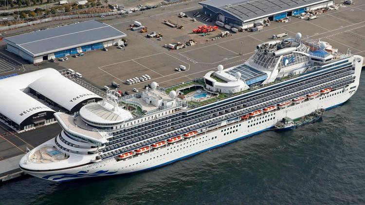 Japan China Outbreak cruise ship Diamond Princess AP