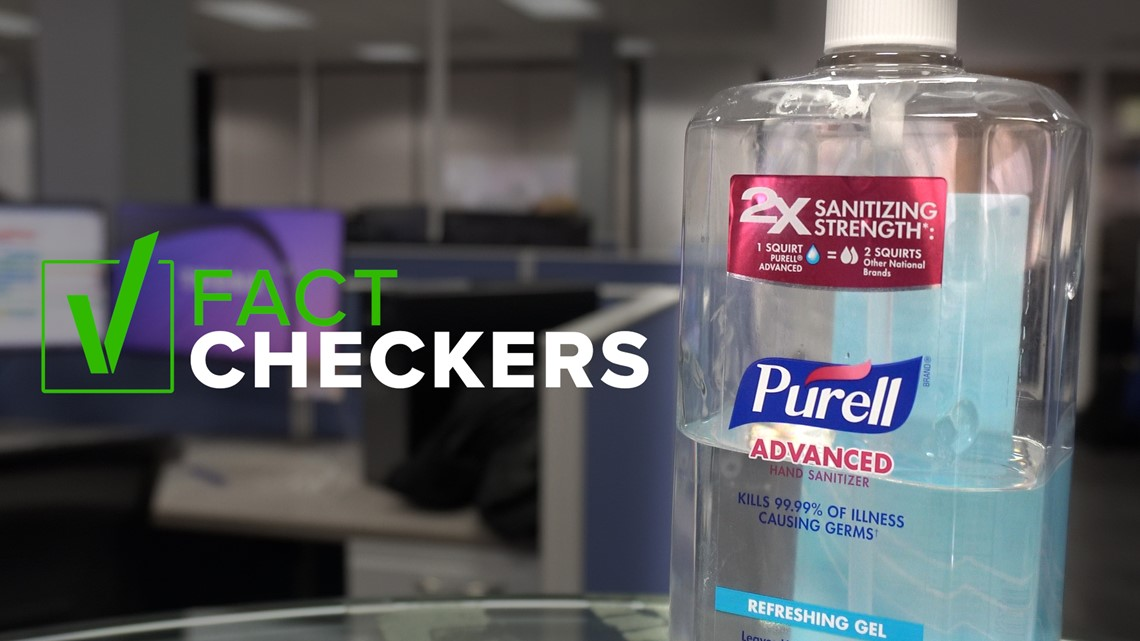 VERIFY: The FDA had a problem with Purell's advertising, not the hand sanitizer
