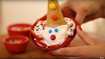 How to make aclown ice cream sundae for National Sundae Day!