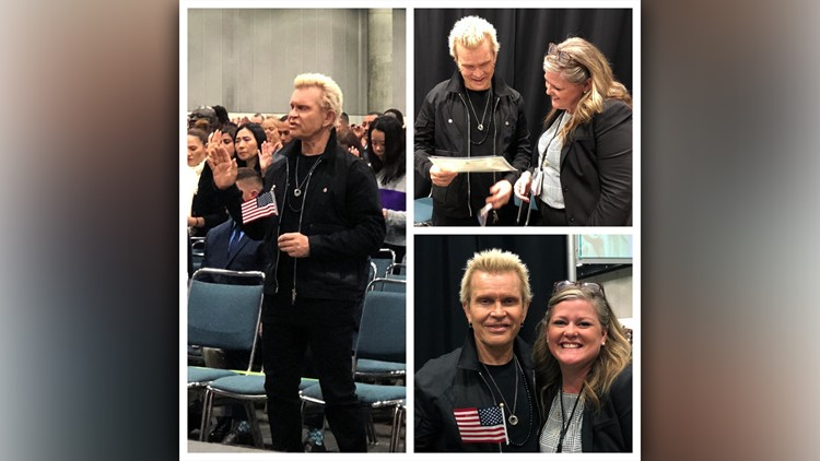 Rocker Billy Idol becomes US citizen