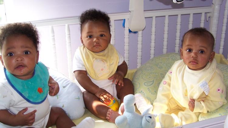 Baby Hammond triplets