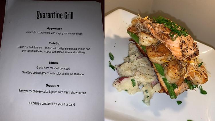 Quarantine Grill menu