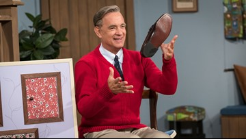 Photos of Tom Hanks as Mister Rogers will have you doing double take
