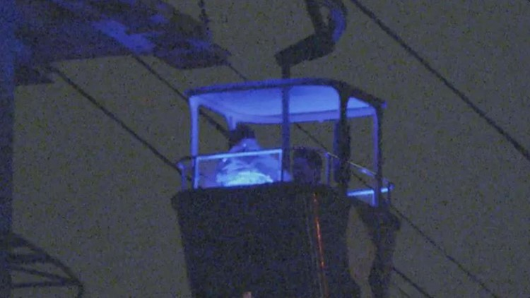 16 people trapped on SeaWorld ride suspended over water