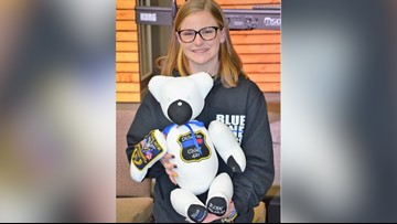 'You can hold onto the memory'   Police officer's daughter makes teddy bears for families of fallen