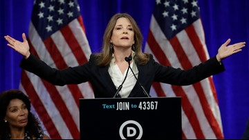 Far from debate spotlight, Marianne Williamson keeps campaigning