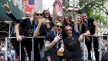 New York celebrates Women's World Cup champs at ticker-tape parade
