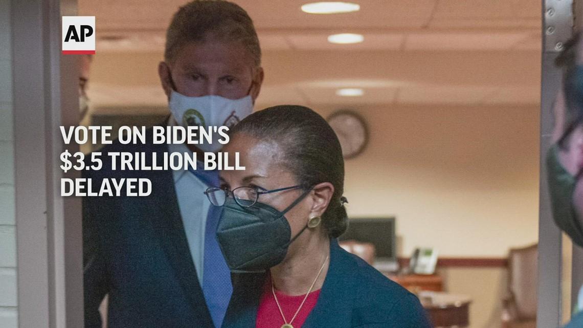 Vote on Biden's $3.5T bill delayed