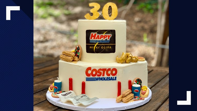 Terrific Bakers Amazing Costco Birthday Cake Includes Samples Churros Funny Birthday Cards Online Kookostrdamsfinfo