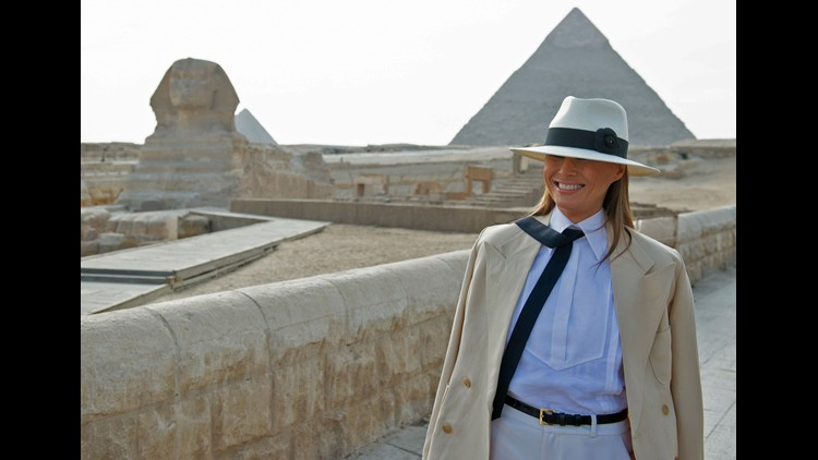 U.S.  first lady says Egypt's pyramids a 'historical treasure' - Politics - Egypt