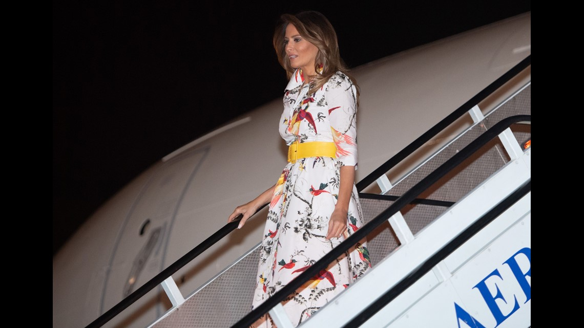 Melania Trump tours Africa in first solo trip as FLOTUS