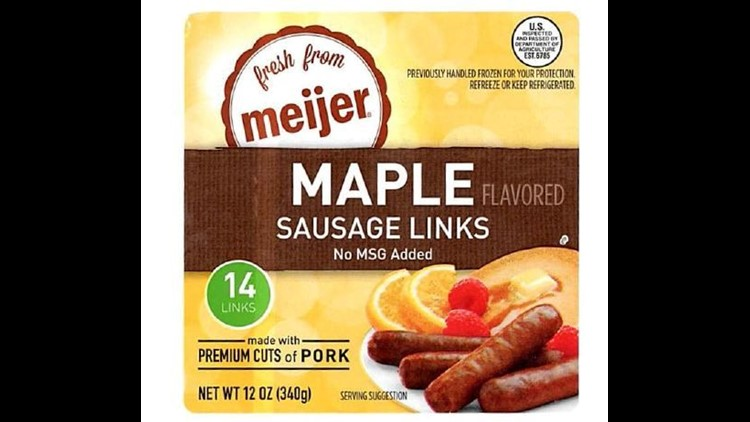 Bob Evans Farms is recalling 46,734 pounds of sausage links because they could contain plastic, the U.S. Department of Agriculture announced.