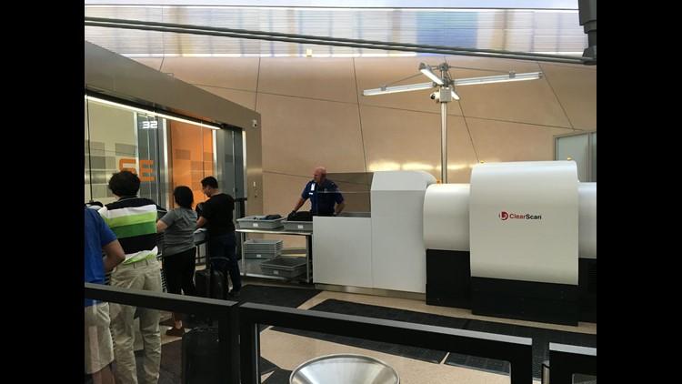 TSA shows off new 3D screening machine at Washington Dulles