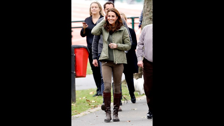 d1b40e5a56 Duchess Kate returns from maternity leave, sports laid-back sweater ...