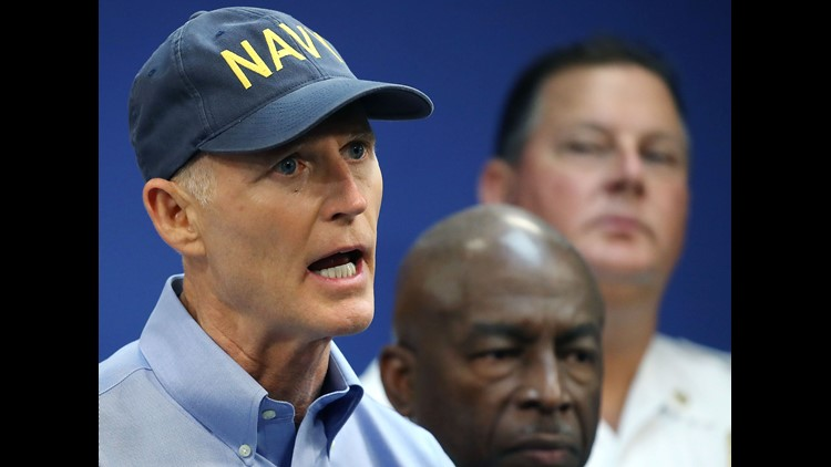 All week Gov. Rick Scott has graced cable news wearing the same Navy hat. It's his trademark But now, the hat is being used as a target on Scott's record when it comes to veterans and health care.