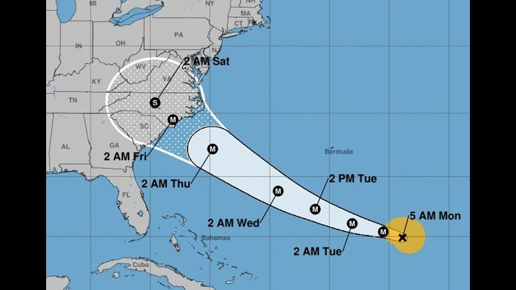 Every big U.S. carrier flying to the region had waived change fees for Hurricane Florence, which could come ashore by Friday.