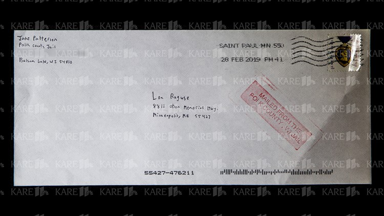 Envelope of letter from Jake Patterson