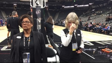 Mood inside the AT&T Center somber, surreal after reports of Kobe Bryant's death