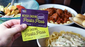 Olive Garden selling 'Never Ending Pasta' and 'Lifetime Pasta Passes'