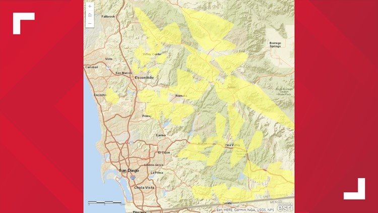 SDG&E warns nearly 33,000 customers of potential power ... on