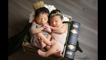 Newborns Romeo and Juliet star in magical photoshoot