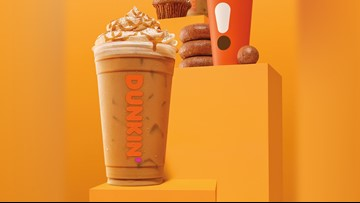 Dunkin Donuts has a new Cinnamon Sugar Pumpkin latte just in time for fall