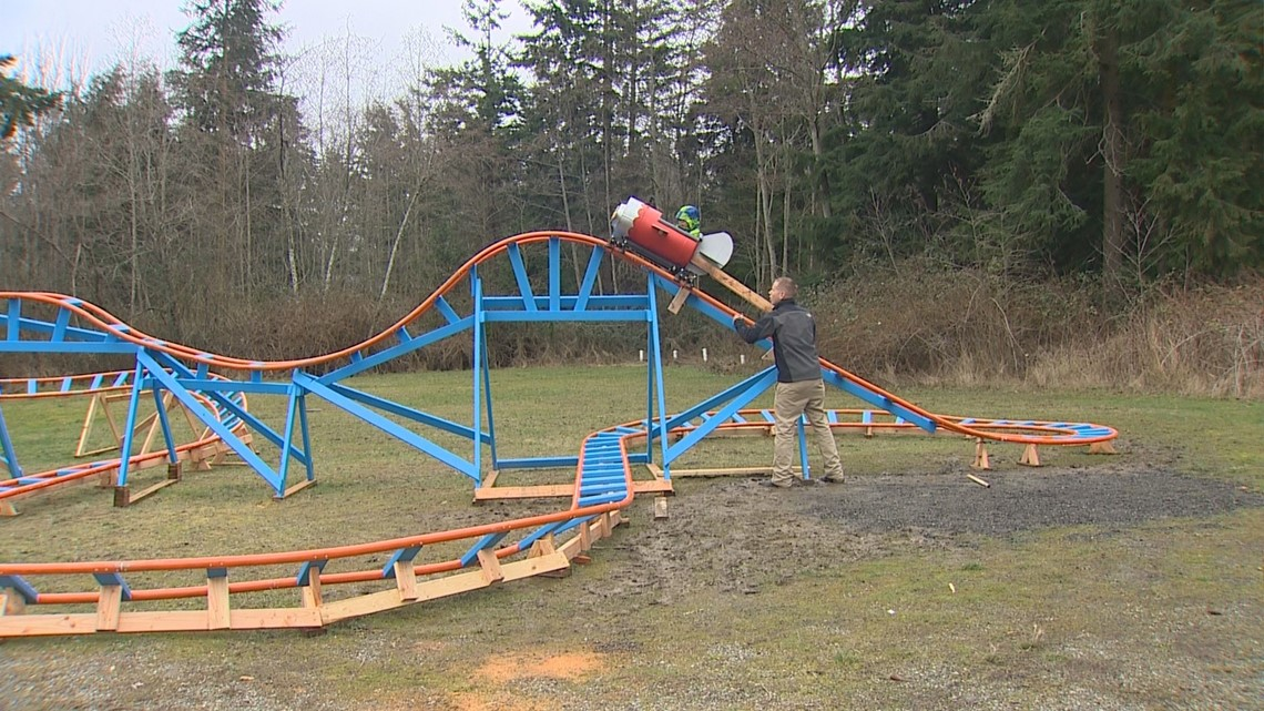 Oak Harbor dad builds backyard roller coaster for son ...