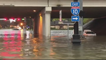 WATCH: Video shows the impact of Imelda's flooding rains in Beaumont, Texas