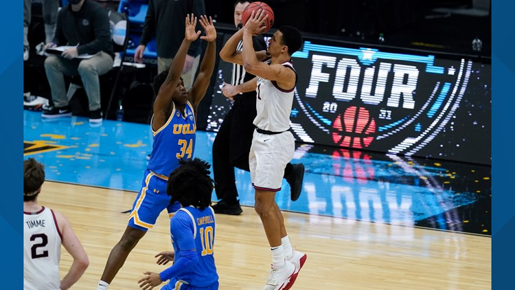 See Jalen Suggs' game-winning buzzer-beating midcourt 3 to send Gonzaga over UCLA