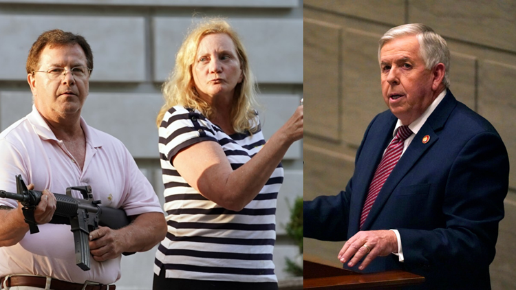 Missouri governor pardons couple who were seen pointing guns at protesters in St. Louis