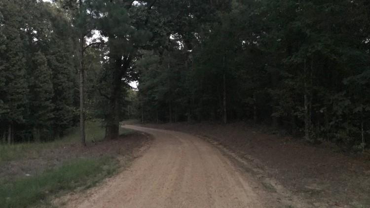 gravel road to crime scene