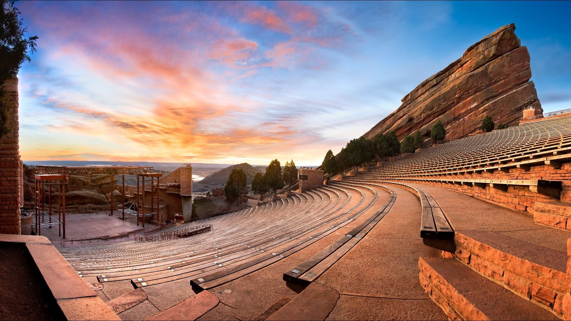 Red Rocks Amphitheatre. Morrison. Colorado, USA - Heroes