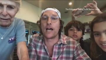Matthew McConaughey hosts virtual bingo for Texas senior living community