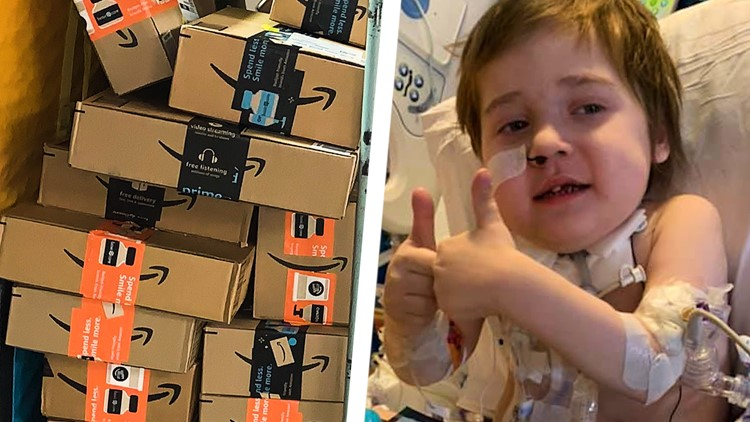 Hundreds of packages of stickers, cards sent to hospitalized 5-year-old