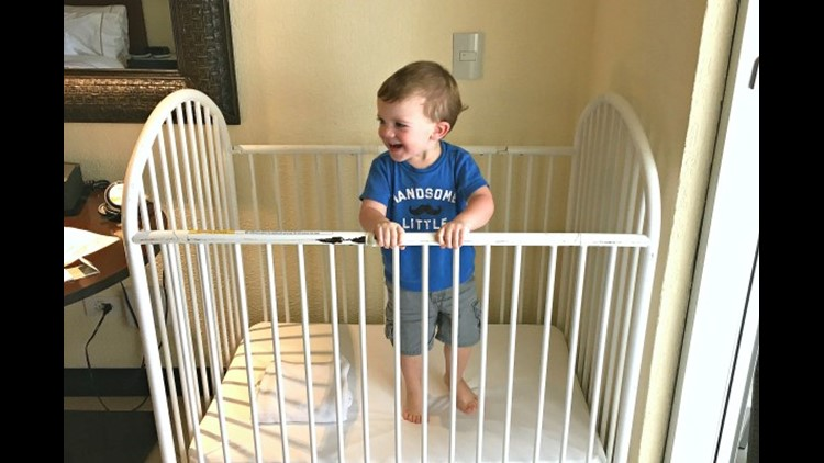 Hotel cribs may not always be up to safety standards. (Image by Leslie Harvey)
