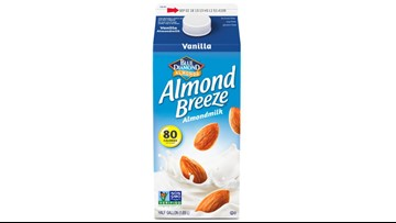 Recall: Some Almond Breeze almond milk may have actual milk
