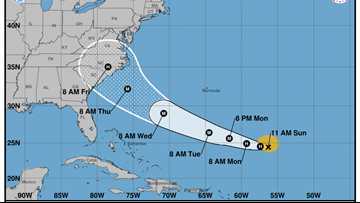 Florence strengthens into a hurricane, takes aim at the Southeast