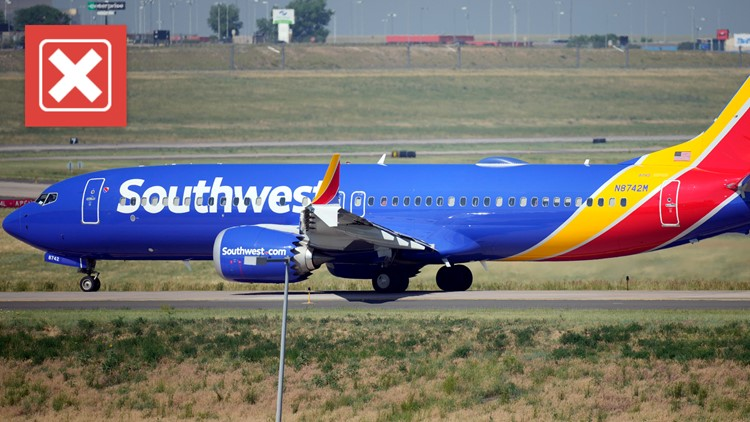 There is no evidence that Southwest Airlines cancellations were caused by workers protesting COVID-19 vaccine mandate