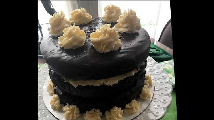 Guinness and Bailey's Cake