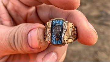 A YouTuber unearthed a lost class ring belonging to a Hardin Valley Academy school mascot
