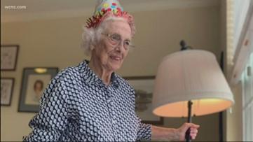 Woman celebrates 99th birthday despite coronavirus social distancing