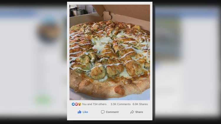 Fairgrounds' pickle pizza