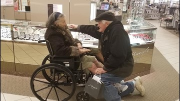 Will you marry me? Husband gets down on one knee again after 63 years of marriage